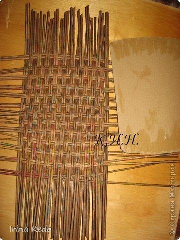 Доброго времени суток. Хочу поделится новой моей работой в плетении. Вот такая вот корзина. фото 8