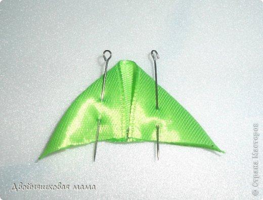 Мастер-класс Украшение Цумами Канзаши Лепестки Ленты фото 5