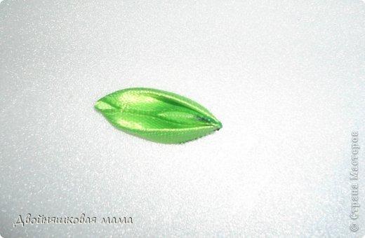 Мастер-класс Украшение Цумами Канзаши Лепестки Ленты фото 9