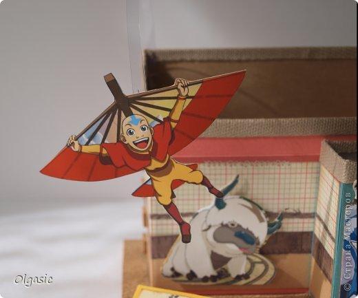 Всем привет! Сделала для сына в подарок к 1 сентября подставку с героями его любимого мультфильма про аватара.  фото 6