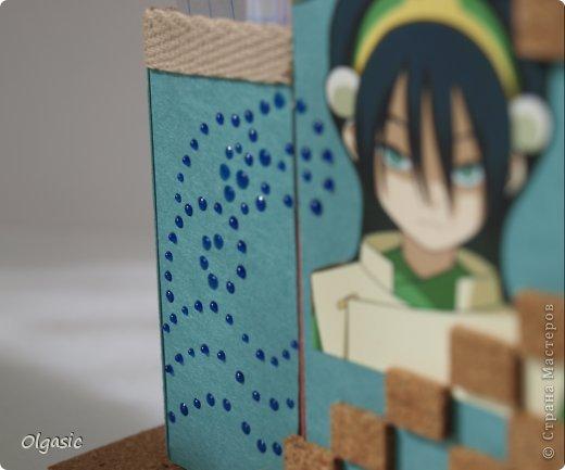 Всем привет! Сделала для сына в подарок к 1 сентября подставку с героями его любимого мультфильма про аватара.  фото 3