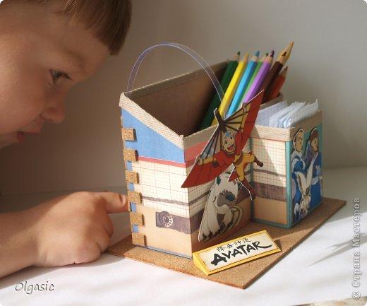 Всем привет! Сделала для сына в подарок к 1 сентября подставку с героями его любимого мультфильма про аватара.  фото 7