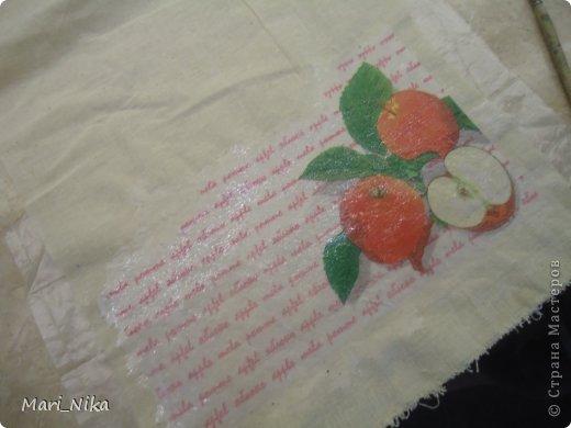 Декор предметов Мастер-класс Декупаж Шитьё Декупаж на ткани первый опыт Салфетки Ткань фото 8