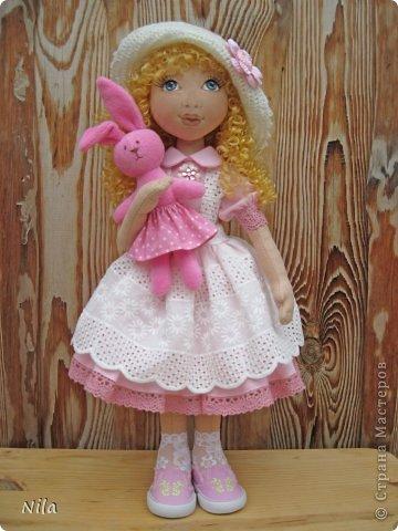 Текстильная кукла Алеся фото 3