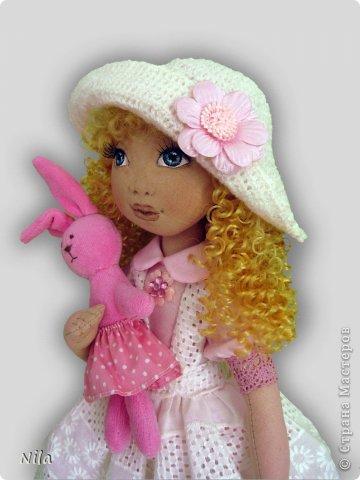 Текстильная кукла Алеся фото 2