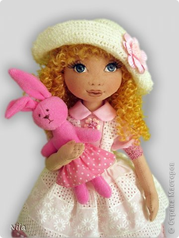 Текстильная кукла Алеся фото 1