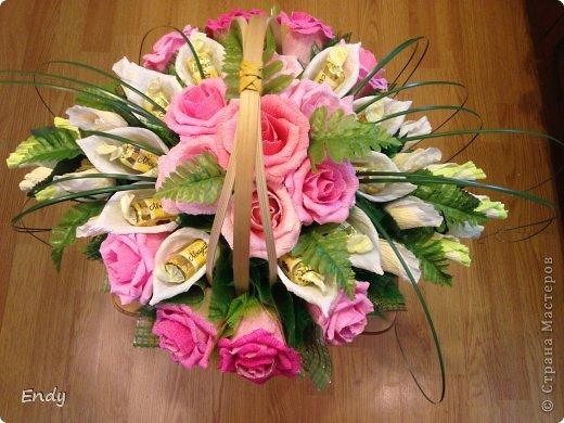 Цветы из конфет своими руками мастер класс