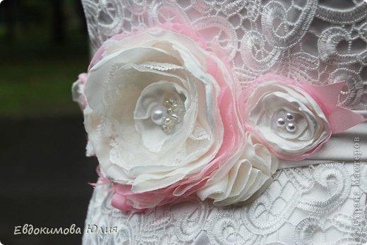 Пояс к свадебному платью фото 3