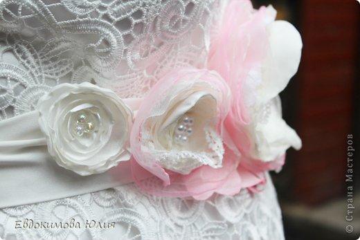 Пояс к свадебному платью фото 4