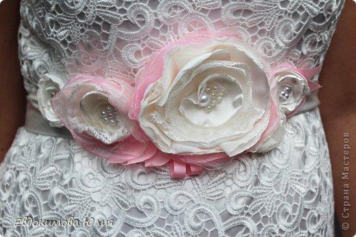 Пояс к свадебному платью фото 2