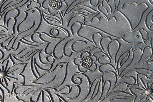 Приветствую Вас, гости моей странички. Сегодня у меня шкатулка в серебре. Техника пейп- арт Тани Сорокиной.  фото 8