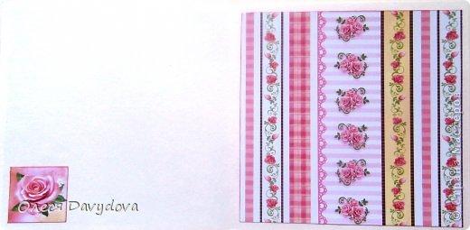 Всем привет! Я с двумя открытками. Очень редко делаю что-то нежное и розовое, предпочитая винтаж и мужскую тему, но на этот раз получилось следующее: фото 13