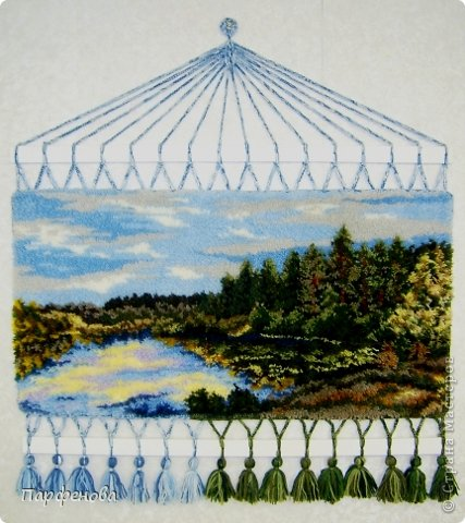 Картина панно рисунок Мастер-класс Вязание крючком Тафтинг Техника узелкового вязания Нитки фото 1