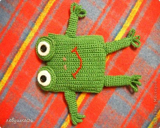 Игрушка Раннее развитие Вязание Вязание крючком лягушонок с лечебным эффектом Материал оберточный Материал природный Нитки фото 2