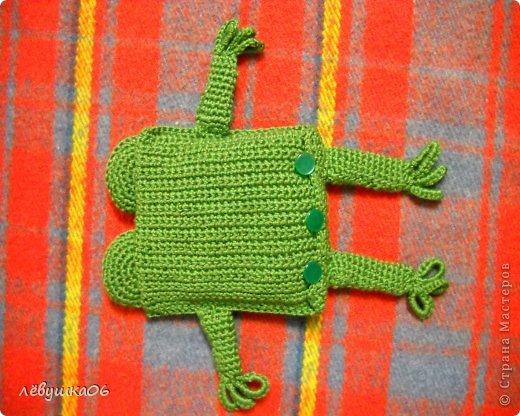 Игрушка Раннее развитие Вязание Вязание крючком лягушонок с лечебным эффектом Материал оберточный Материал природный Нитки фото 3