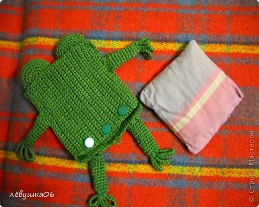 Игрушка Раннее развитие Вязание Вязание крючком лягушонок с лечебным эффектом Материал оберточный Материал природный Нитки фото 4