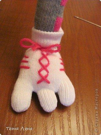 Игрушка Мастер-класс Вязание крючком Шитьё Страус из носков + МК Носки Пряжа фото 16