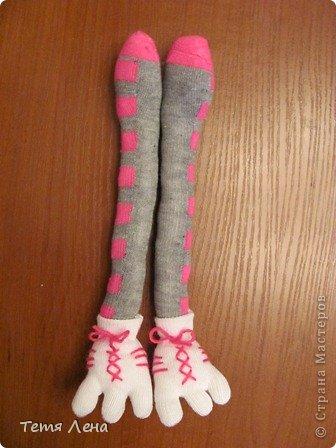 Игрушка Мастер-класс Вязание крючком Шитьё Страус из носков + МК Носки Пряжа фото 17