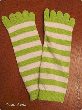 Лягушонок из носков +МК фото 2