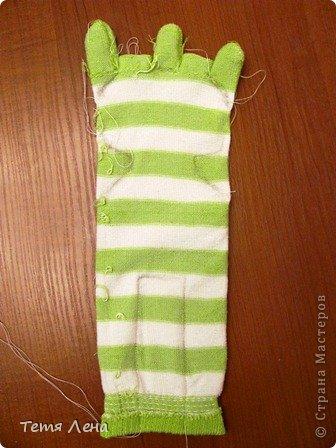 Лягушонок из носков +МК фото 3