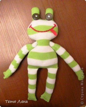 Лягушонок из носков +МК фото 10