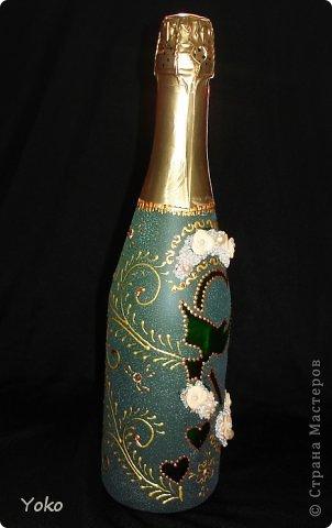 """Поступил заказ на """"Голубок"""" в коралловом: бутылка, бокалы и свеча-очаг фото 9"""