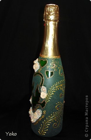 """Поступил заказ на """"Голубок"""" в коралловом: бутылка, бокалы и свеча-очаг фото 10"""