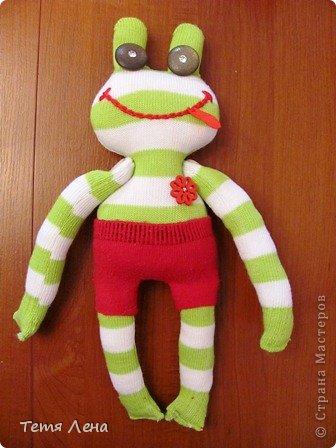 Лягушонок из носков +МК фото 1
