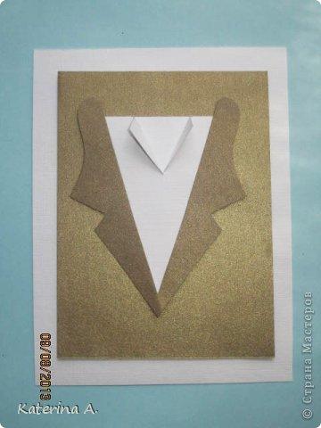 Мастер-класс Открытка Бумагопластика Квиллинг МК мужской открытки Бумага фото 12