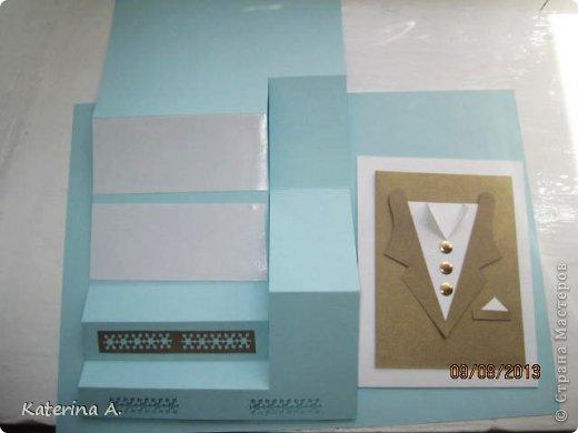 Мастер-класс Открытка Бумагопластика Квиллинг МК мужской открытки Бумага фото 14