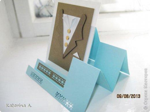 Мастер-класс Открытка Бумагопластика Квиллинг МК мужской открытки Бумага фото 15