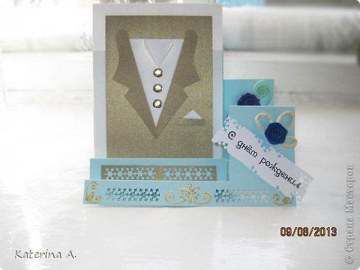 Мастер-класс Открытка Бумагопластика Квиллинг МК мужской открытки Бумага фото 20