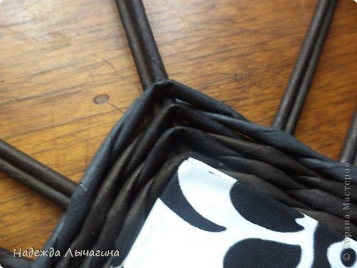 Мастер-класс Плетение МК плетения квадратной крышки Бумага газетная Трубочки бумажные фото 7