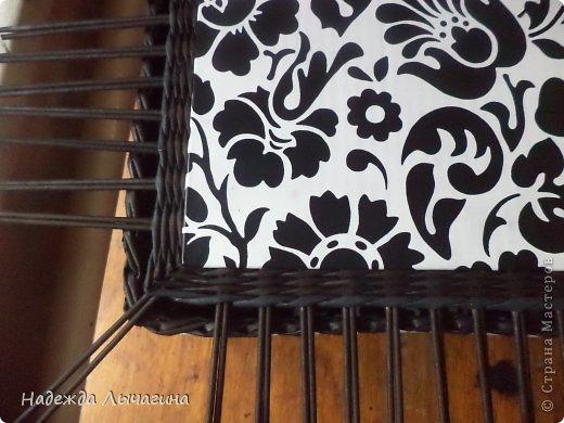 Мастер-класс Плетение МК плетения квадратной крышки Бумага газетная Трубочки бумажные фото 8