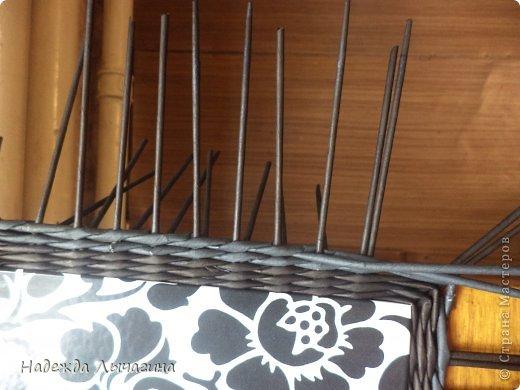 Мастер-класс Плетение МК плетения квадратной крышки Бумага газетная Трубочки бумажные фото 10