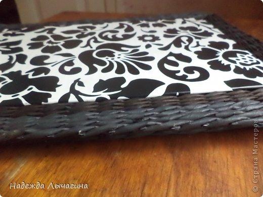 Мастер-класс Плетение МК плетения квадратной крышки Бумага газетная Трубочки бумажные фото 16