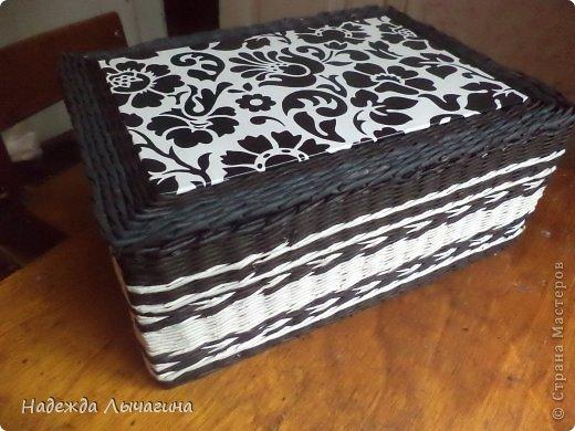 Мастер-класс Плетение МК плетения квадратной крышки Бумага газетная Трубочки бумажные фото 17