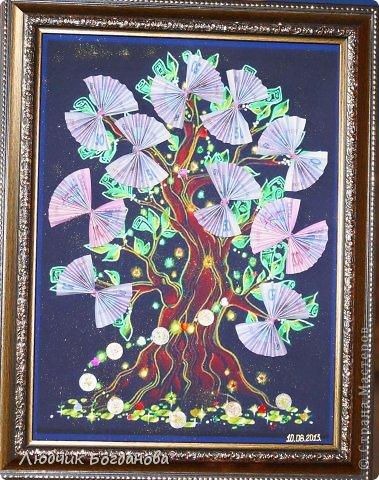 Денежное дерево, подарок на свадьбу. фото 3