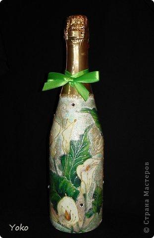 Очередная бутылочка на день рождения подруге. Со всех сторон фото 5