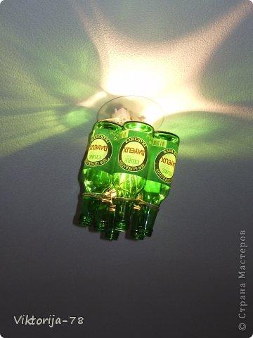 Доброе время суток, мастера и мастерицы! В интернете нашла идею новой люстры, а подходящего материала, не нашла. Поэтому, рискнула сотворить из того что было... Думаю, что это опасно для жизни,  переделаю, как НАДО!!! фото 1