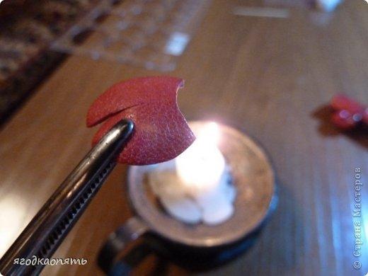Мастер-класс Аппликация Вырезание МК Божья коровка из кожи Клей Кожа Краска фото 14