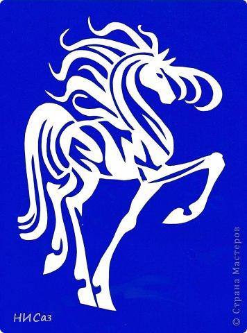 Картина панно рисунок Новый год Вырезание К году Лошади Бумага фото 8