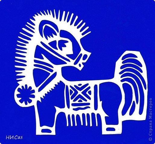 Картина панно рисунок Новый год Вырезание К году Лошади Бумага фото 9