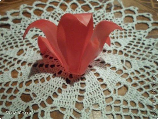 Здравствуйте жители и гости Страны Мастеров! Эта лилия появилась у меня ко дню рождения одной девушки. Вот она- лилия для Лилии! Может быть и кому-нибудь из вас пригодится. фото 5