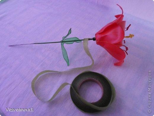 Здравствуйте жители и гости Страны Мастеров! Эта лилия появилась у меня ко дню рождения одной девушки. Вот она- лилия для Лилии! Может быть и кому-нибудь из вас пригодится. фото 13