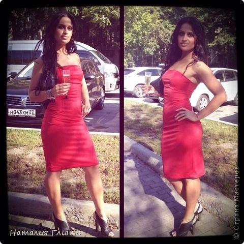 Девушка шла на свадьбу к подруге, вот и получилось такое простое, но очень подходящее платье :) фото 2