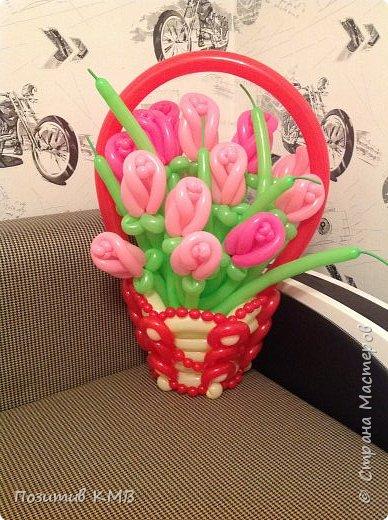 Розы из шаров своими руками мастер класс