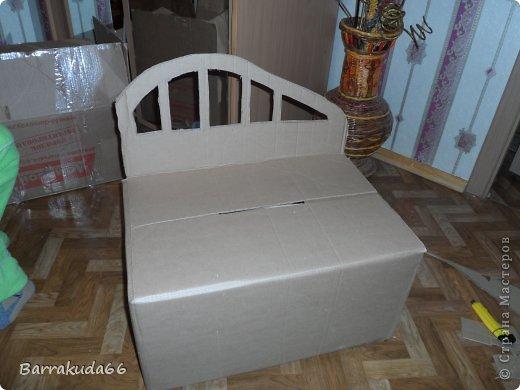 Добрый день дорогие мастера и мастерицы! Как и обещала весь процесс изготовления плетёного диванчика из картона и газетных трубочек. Приступим! фото 3
