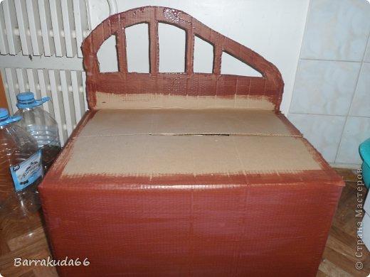 Добрый день дорогие мастера и мастерицы! Как и обещала весь процесс изготовления плетёного диванчика из картона и газетных трубочек. Приступим! фото 4