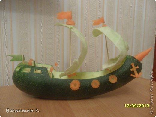 Корабли из овощей